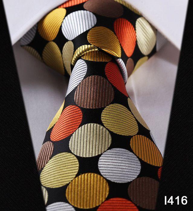 "Dot Check Striped Check New 3.4"" 100% Silk Jacquard Woven Classic Man's Tie Necktie#I4"