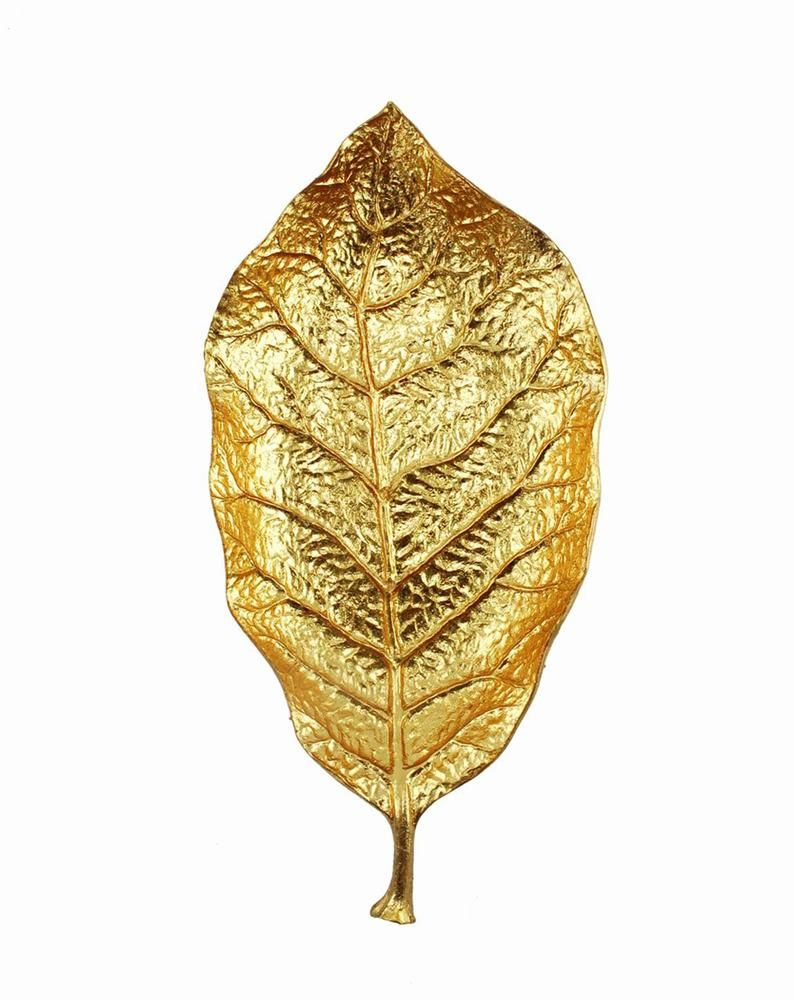 Polished Polyresin Leaf Wall decor, Gold | DIY Decor | Pinterest ...