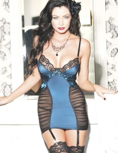 Gorgeous! Ditta Satin Lace Chemise for $50.95.