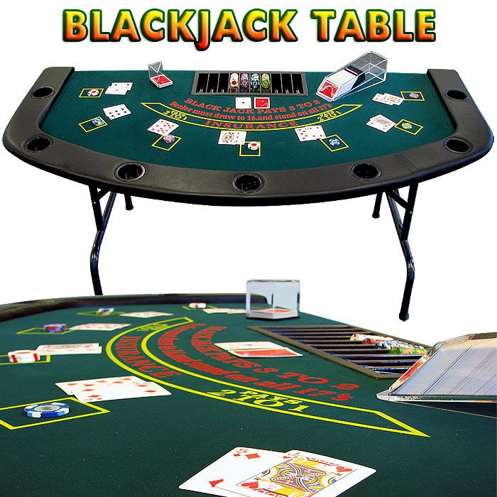 Blackjack Table Full Size Table 7 Player Positions Dealer Position Built In Cup Holders Dealer Chip Tray Game Room Accessories Table Games Blackjack