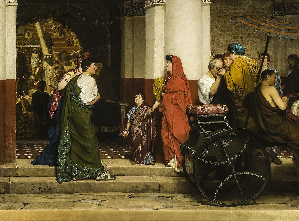 Alma Tadema Klassieke Verleiding Fries Museum Lawrence Alma Tadema Tentoonstellingen Kunstgeschiedenis