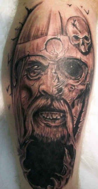 Viking Armband Tattoo Designs: Viking Warrior Head Tattoo