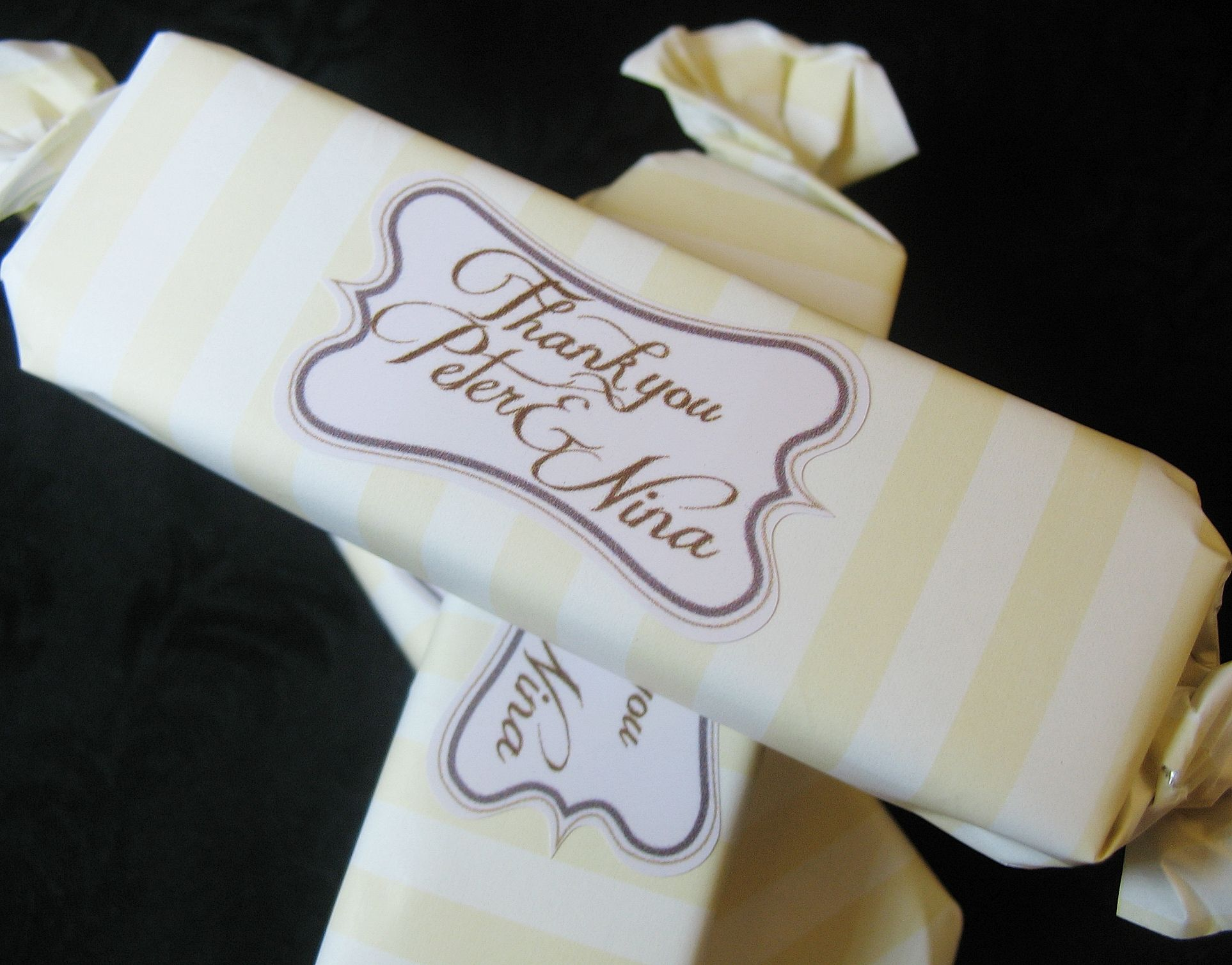 Toffee Bar With Personalised Label | Wedding Favours | Pinterest ...