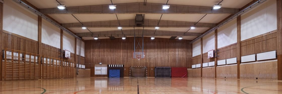 Led lighting in the spare time how to light up a sportshall with