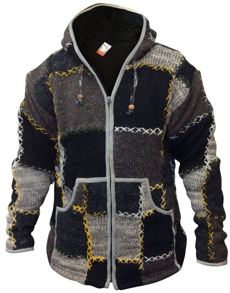 Mens Wool Patchwork Fleece Lined Hippy Jacket Boho Superwarm Winter Zip Jumper is part of Jackets - Find many great new & used options and get the best deals for Mens Wool Patchwork Fleece Lined Hippy Jacket Boho Superwarm Winter Zip Jumper at the best online prices at eBay! Free delivery for many products!