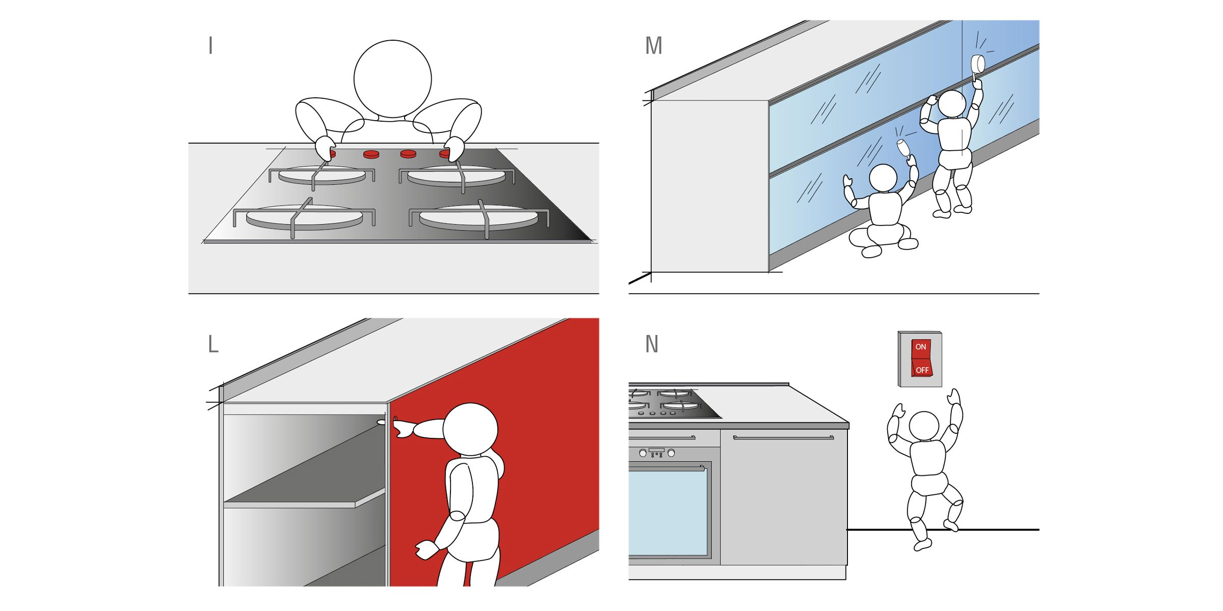 child safety in the kitchen planning valcucine [ 2400 x 1200 Pixel ]