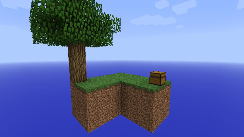 SkyBlock Minecraft Survival Island Map Floating island
