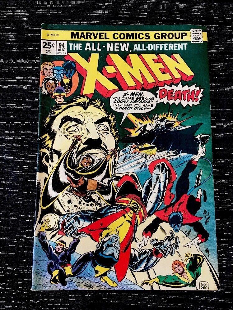 The X Men 94 Aug 1975 Marvel 2nd Appearance Of New Team Ebay X Men Comics Nightcrawler Marvel
