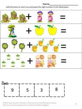 apples johnny appleseed cut paste fine motor activities special education math for first grade. Black Bedroom Furniture Sets. Home Design Ideas