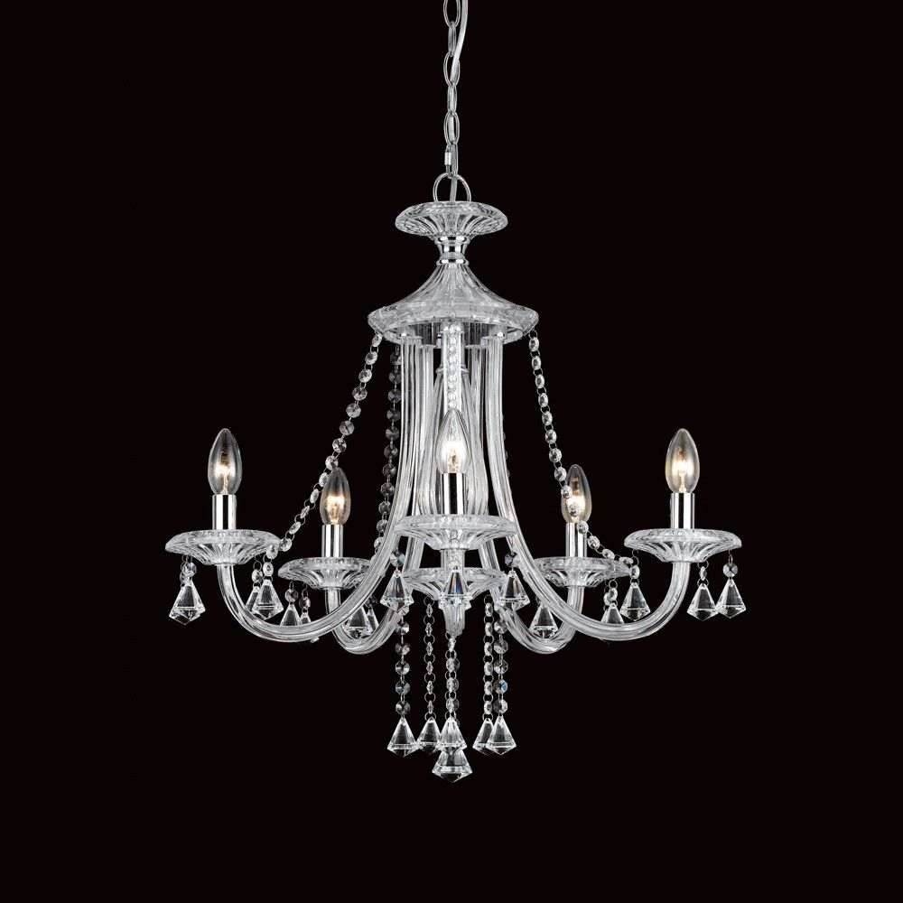 Impex calgary 5 light chandelier a stunning crystal chanderlier impex calgary 5 light chandelier a stunning crystal chanderlier available in a 5 aloadofball Images