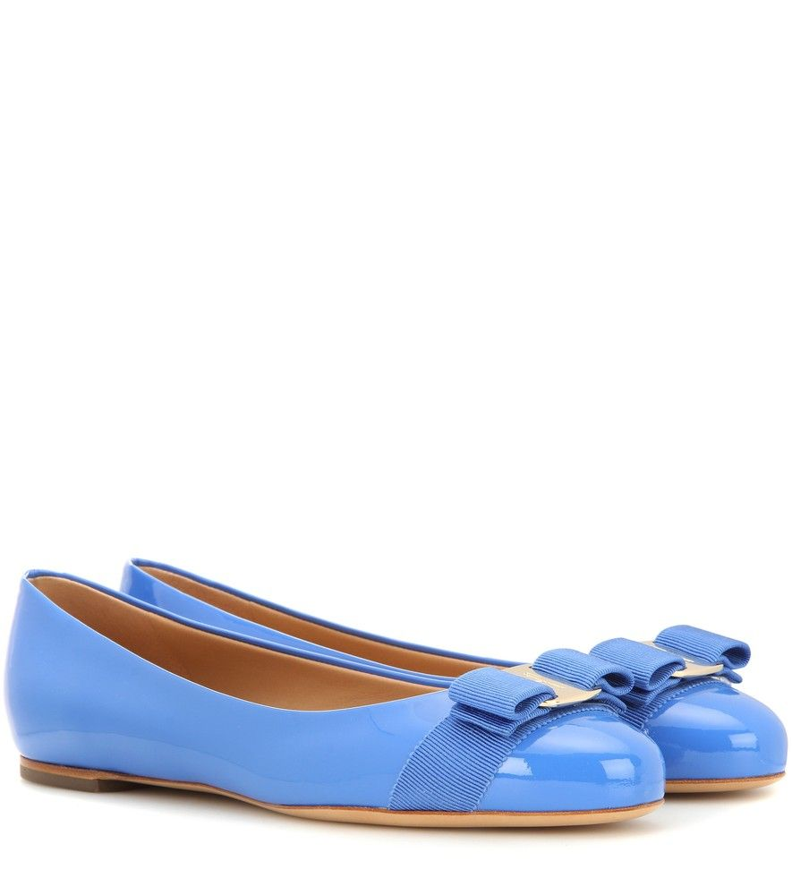 Varina Patent Shoes in Light Blue Patent Leather Salvatore Ferragamo ej6sY