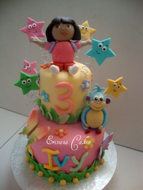 Dora The Explorer and boots Cake 3 B023 Cake decorating ideas