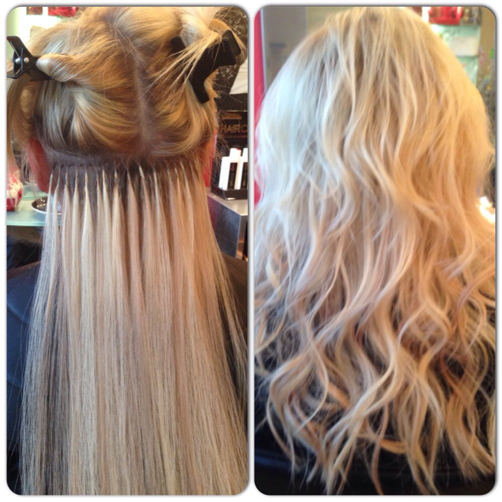 During After Application Of Great Lengths Hair Extensions 30cm