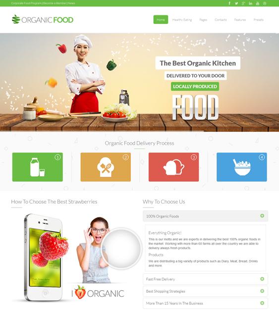 This green, ecofriendly, and organic Joomla theme has a