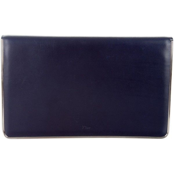 a4da2d06d9f6 Pre-owned Christian Dior Calfskin Leather Clutch ( 225) ❤ liked on Polyvore  featuring. Dior HandbagsBlue ...