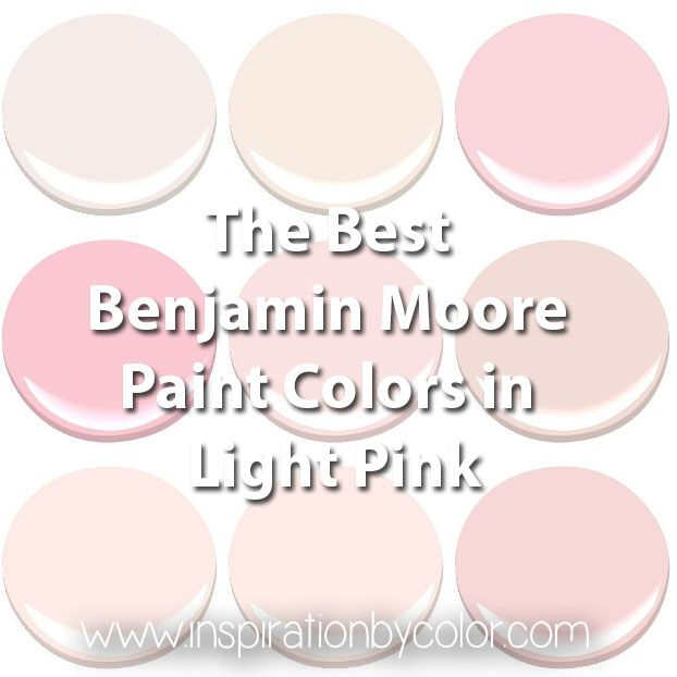Benjamin Moore Paint Colors In Light Pink The Best Soft Baby Pastel And Blush Add A Touch Of Glamour To Any Interior