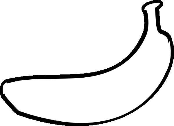 Banana Outline Clip Art At Clker Com Vector Clip Art Online Royalty Clip Art Coloring Pages To Print Banana