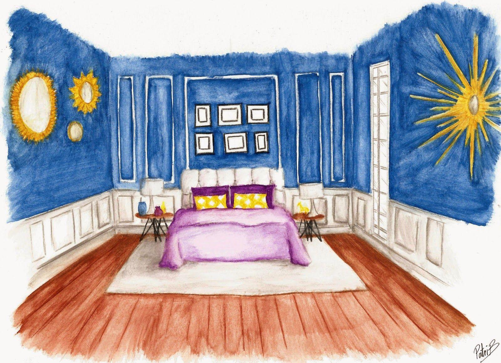 Dibujo dormitorio estilo cl sico moderno http www - Dormitorio clasico moderno ...