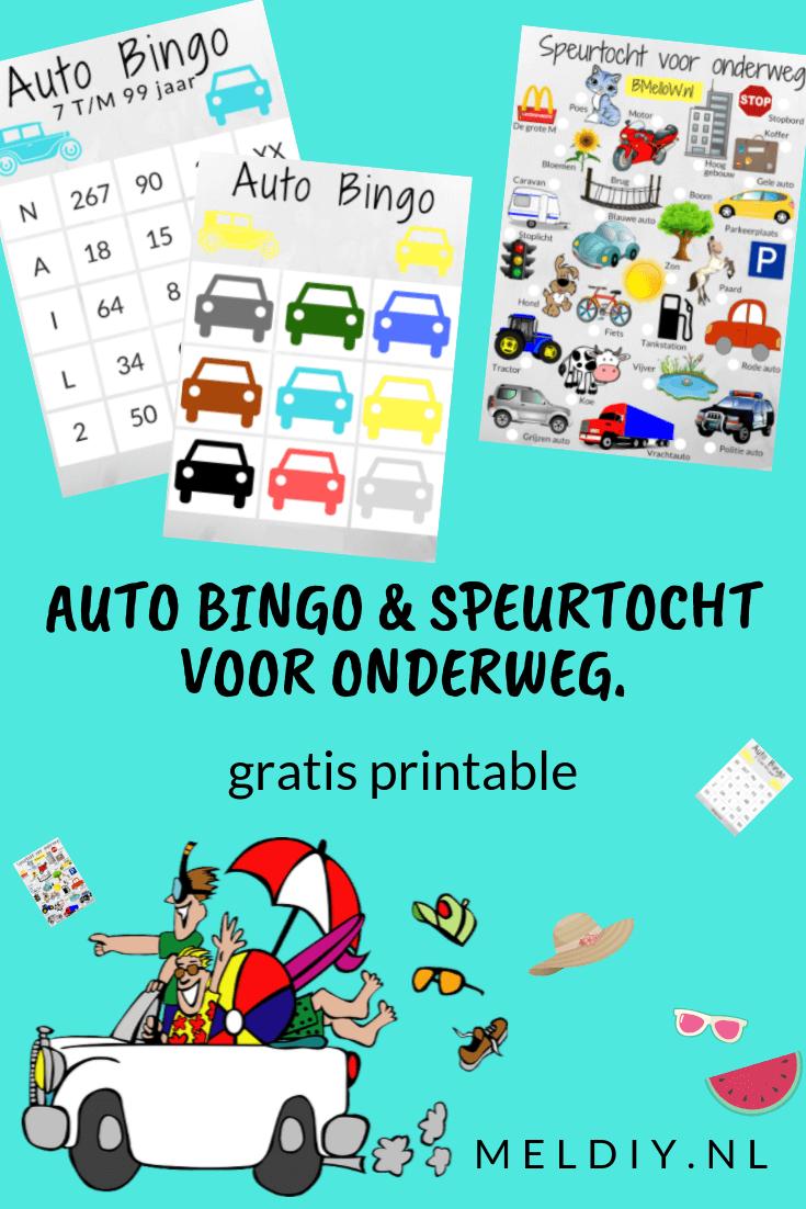 Auto Bingo Speurtocht Voor Onderweg Gratis Printables Auto Bingo Bingo Speurtocht
