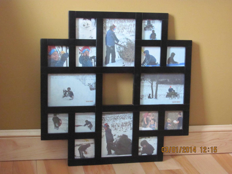 Multiple Picture Frames Wood. Dark Wood Effect Multi Photo Frame ...