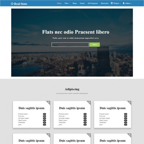 Property Bootstrap 3 Column Web Template Real Estate Website Templates Free Website Templates Free Real Estate Website