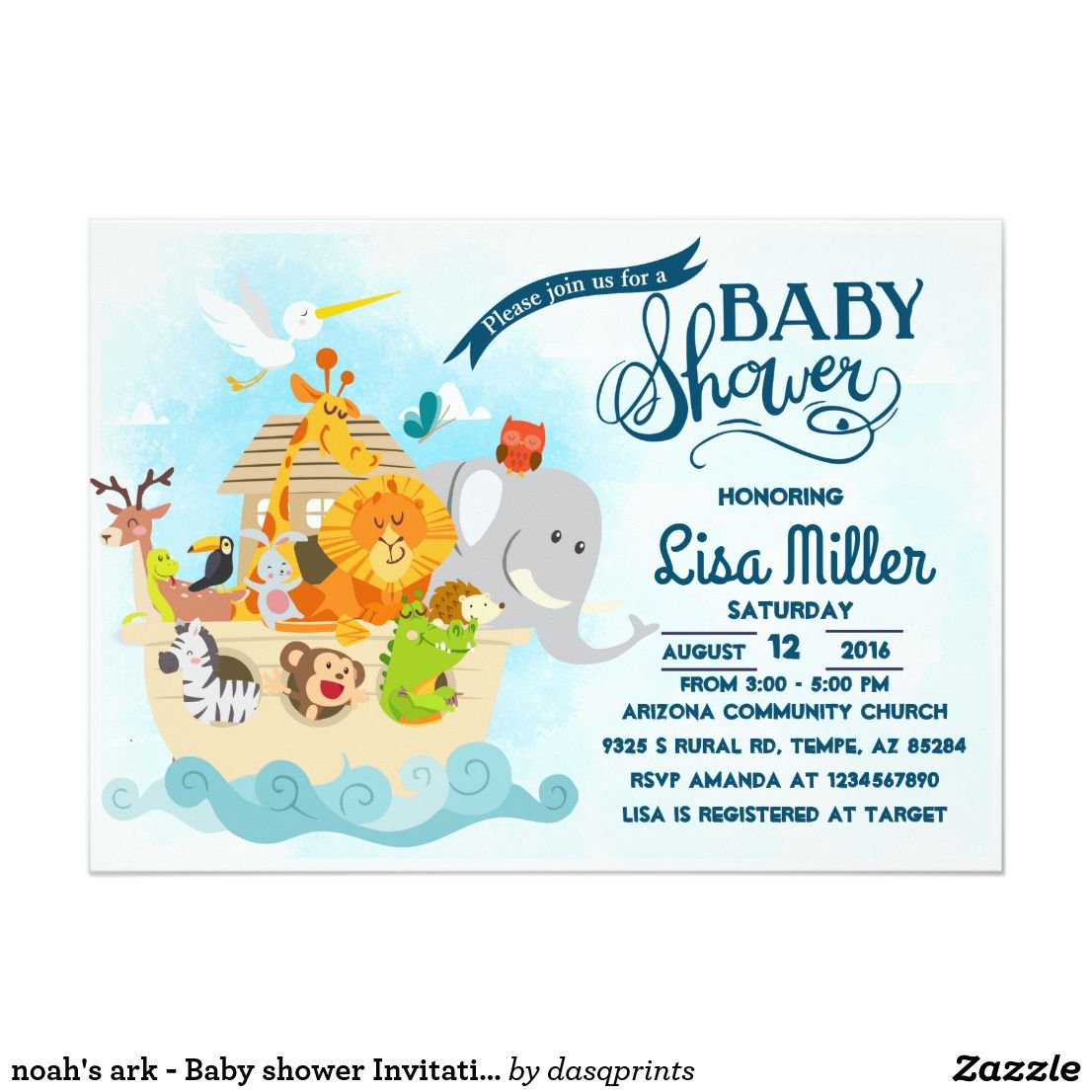 Noah Ark Baby Shower Invitations Images - baby shower invitations ideas