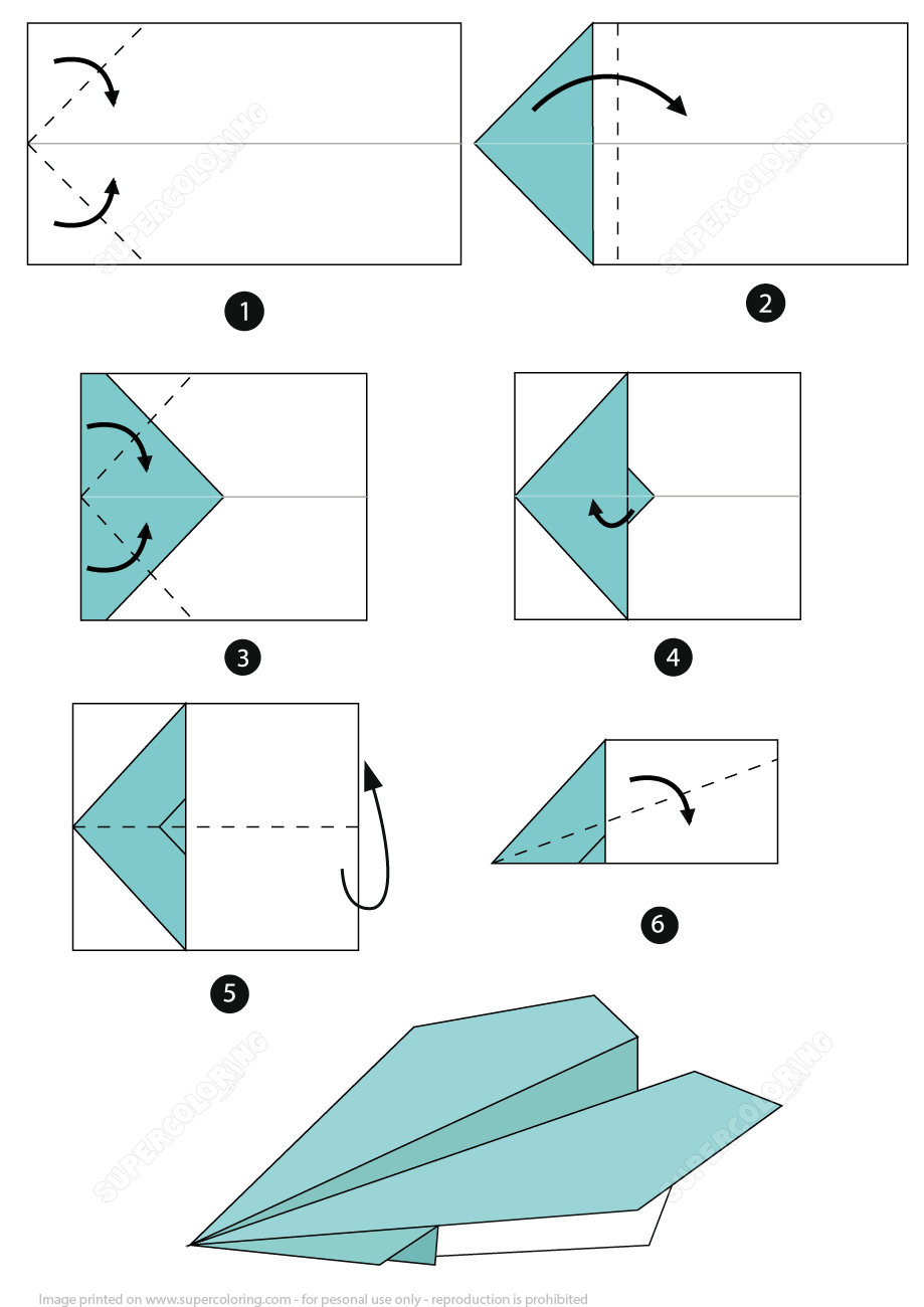Origami Airplane Instructions Free Printable Papercraft Templates Origami Airplane Paper Airplanes Instructions Origami Paper Plane
