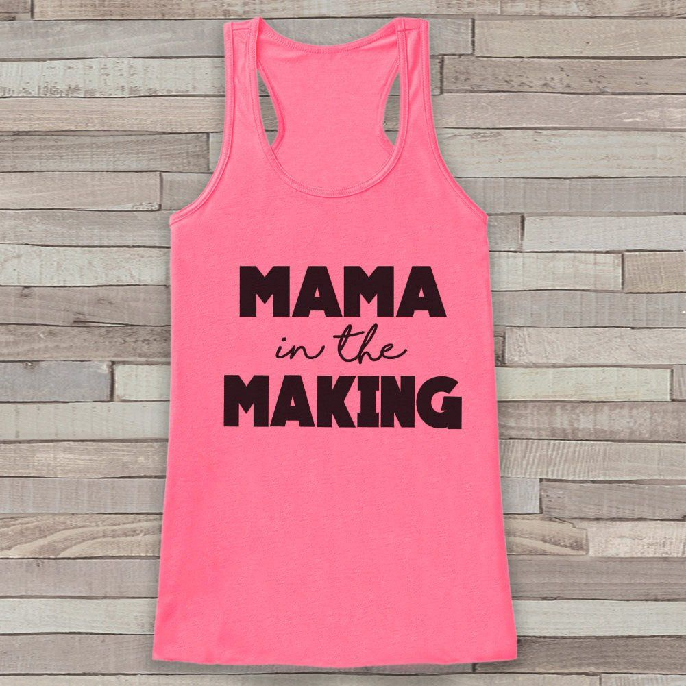 pregnancy announcement tank simple pregnancy shirt mama in the making tank pink tank