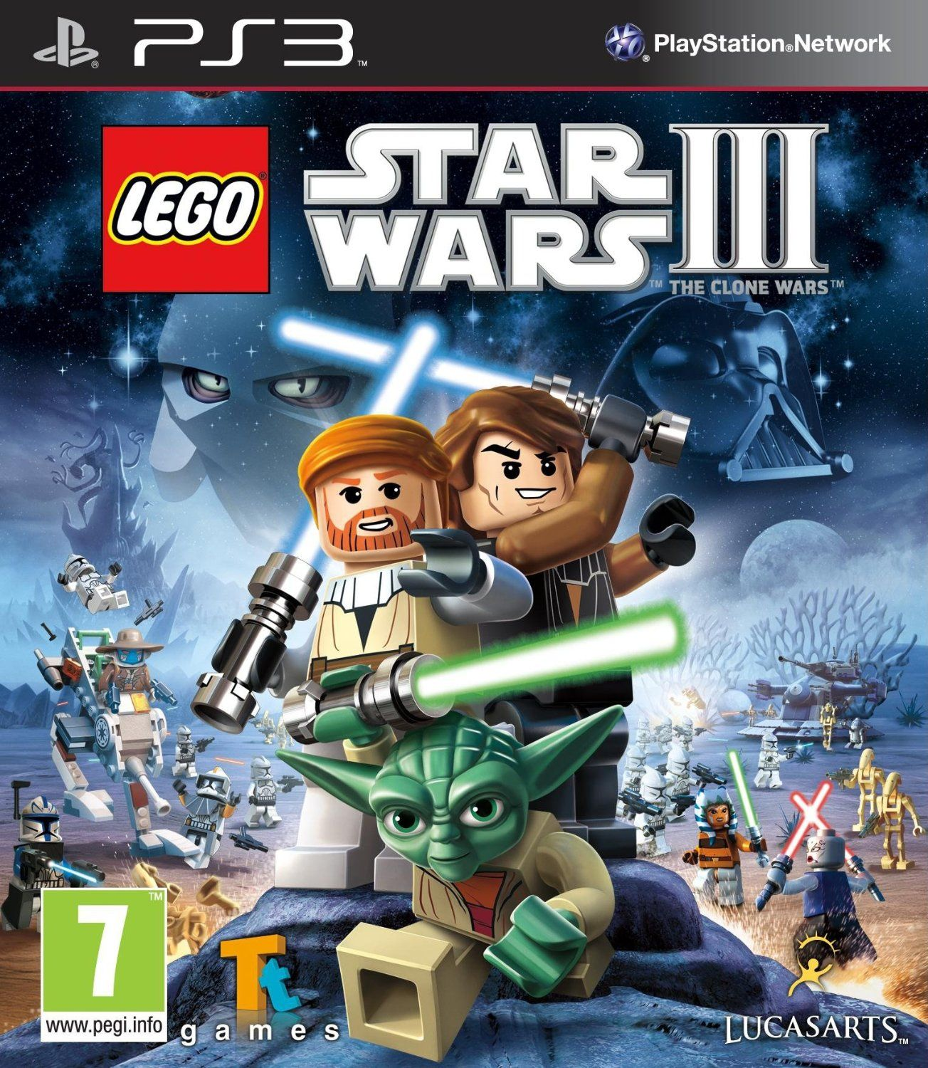 Lego Star Wars 3 The Clone Wars Ps3 Amazon Co Uk Pc Video Games Star Wars Wallpaper Lego Star Wars Lego Star