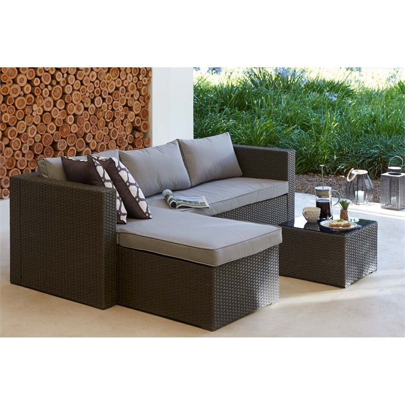 Matara Corner Sofa Dining And Garden Furniture Set: Homebase Rattan Corner Sofa Set