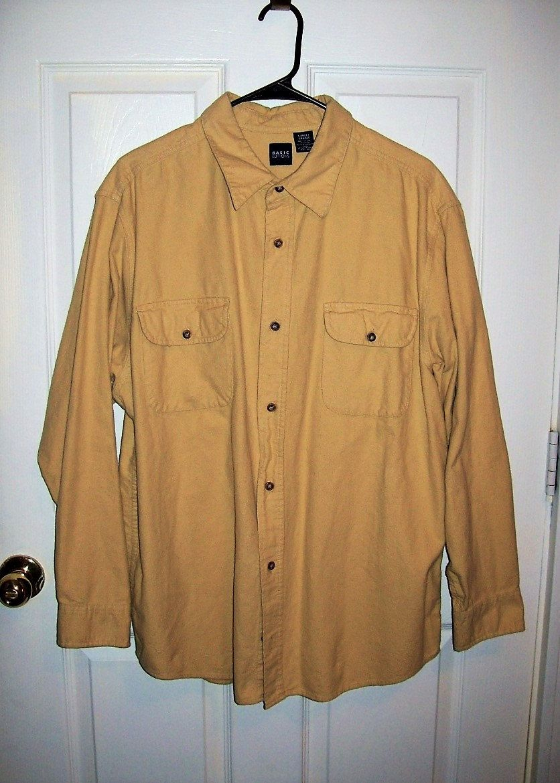 Orange flannel jacket  Vintage Menus Old Gold Flannel Shirt by Basic Editions Large Only