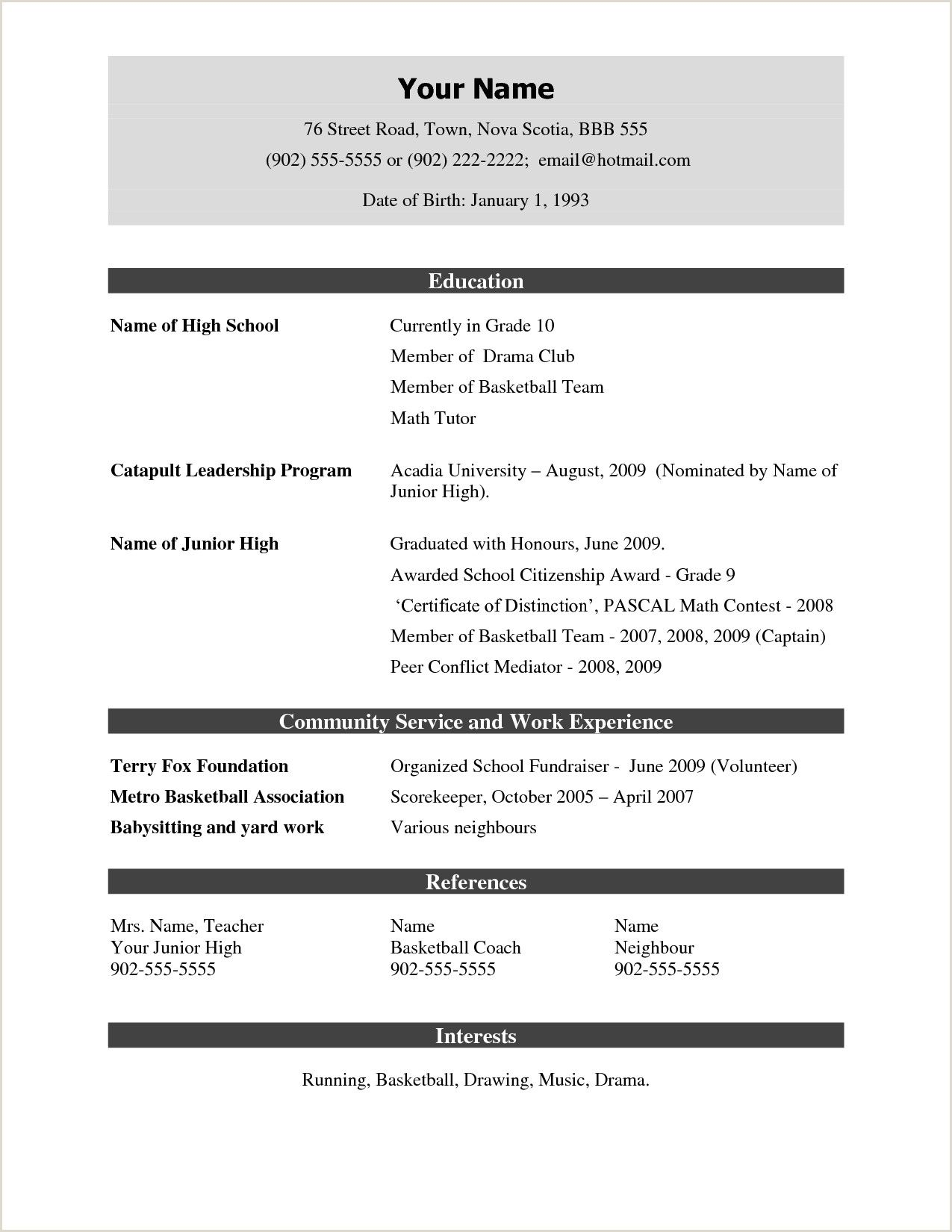 Resume Examples Pdf For Freshers