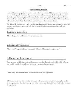 Worksheets Scientific Method Practice Worksheet scientific method practice worksheet freeze student and the ojays worksheet