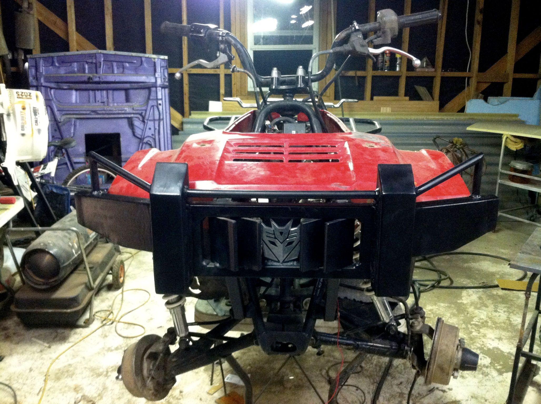 Built by shawn floyd custom atv four wheeler front bumper more