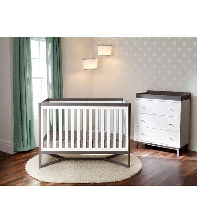 Delta Children Tribeca 4 In 1 Convertible Crib White And Grey