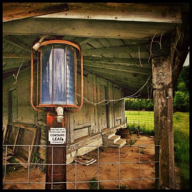 .@f8inmemphis   A rusty gas pump still stands outside an abandoned store in the largely aband...   Webstagram - the best Instagram viewer