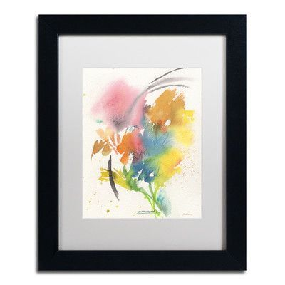"Trademark Art ""Rainbow Bouquet"" by Sheila Golden Matted Framed Painting Print Size:"