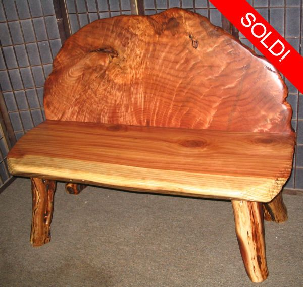 Admirable Redwood Burl Bench By Artisan Burlwood Home Accessories Beutiful Home Inspiration Cosmmahrainfo