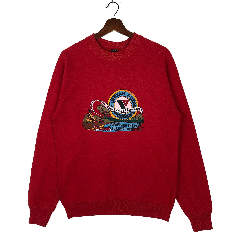 Vintage 80 S Y Indian Guide Program Crewneck Sweatshirt By Clockworkthriftstore On Etsy Sweatshirts Vintage Sweatshirt Boho Fashion Hippie [ 3000 x 3000 Pixel ]