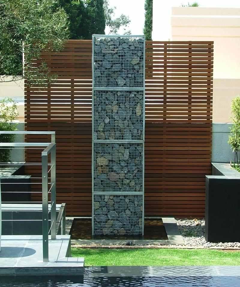 mur et cl ture gabion id es pour le jardin en 33 photos brise vue bois mur et jardin moderne. Black Bedroom Furniture Sets. Home Design Ideas