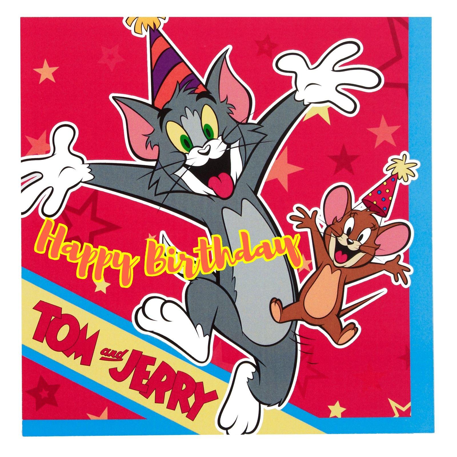 tom and jerry birthday Tom and Jerry Birthday Cards Pinterest Toms