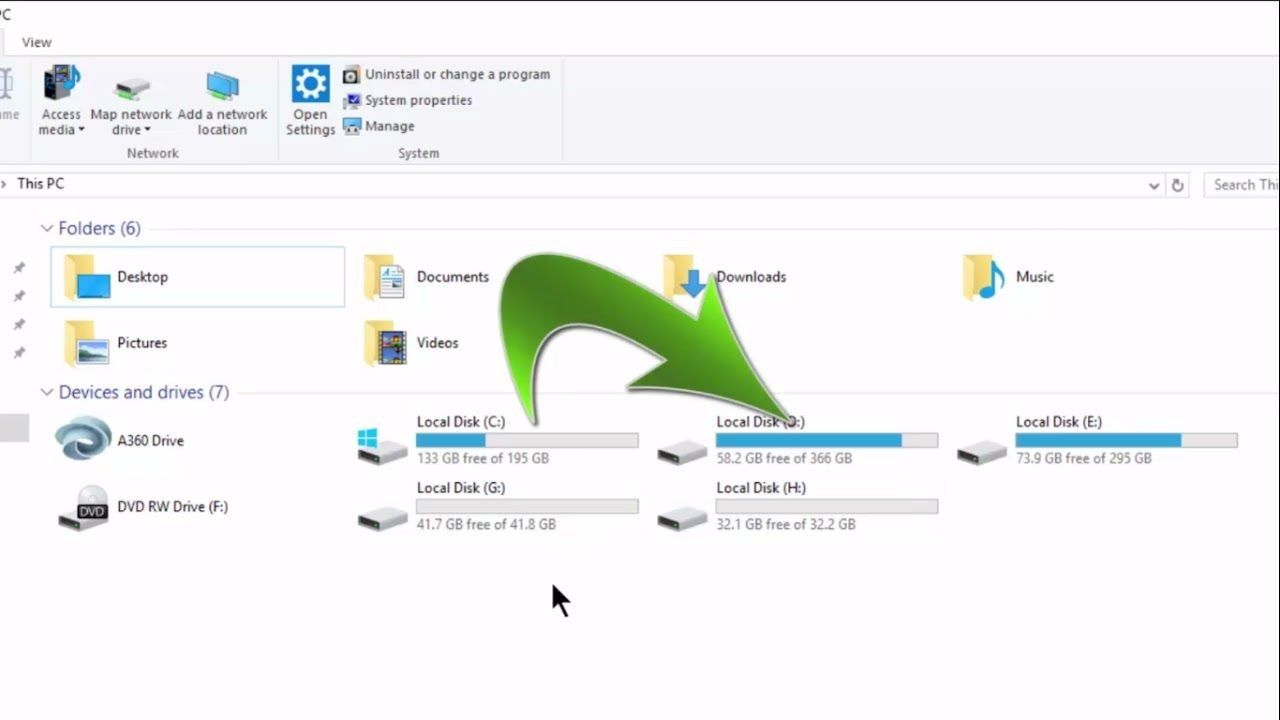 how to increase local disk space in windows 10 without