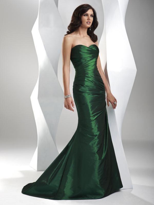 Vestidos largos fiesta color verde