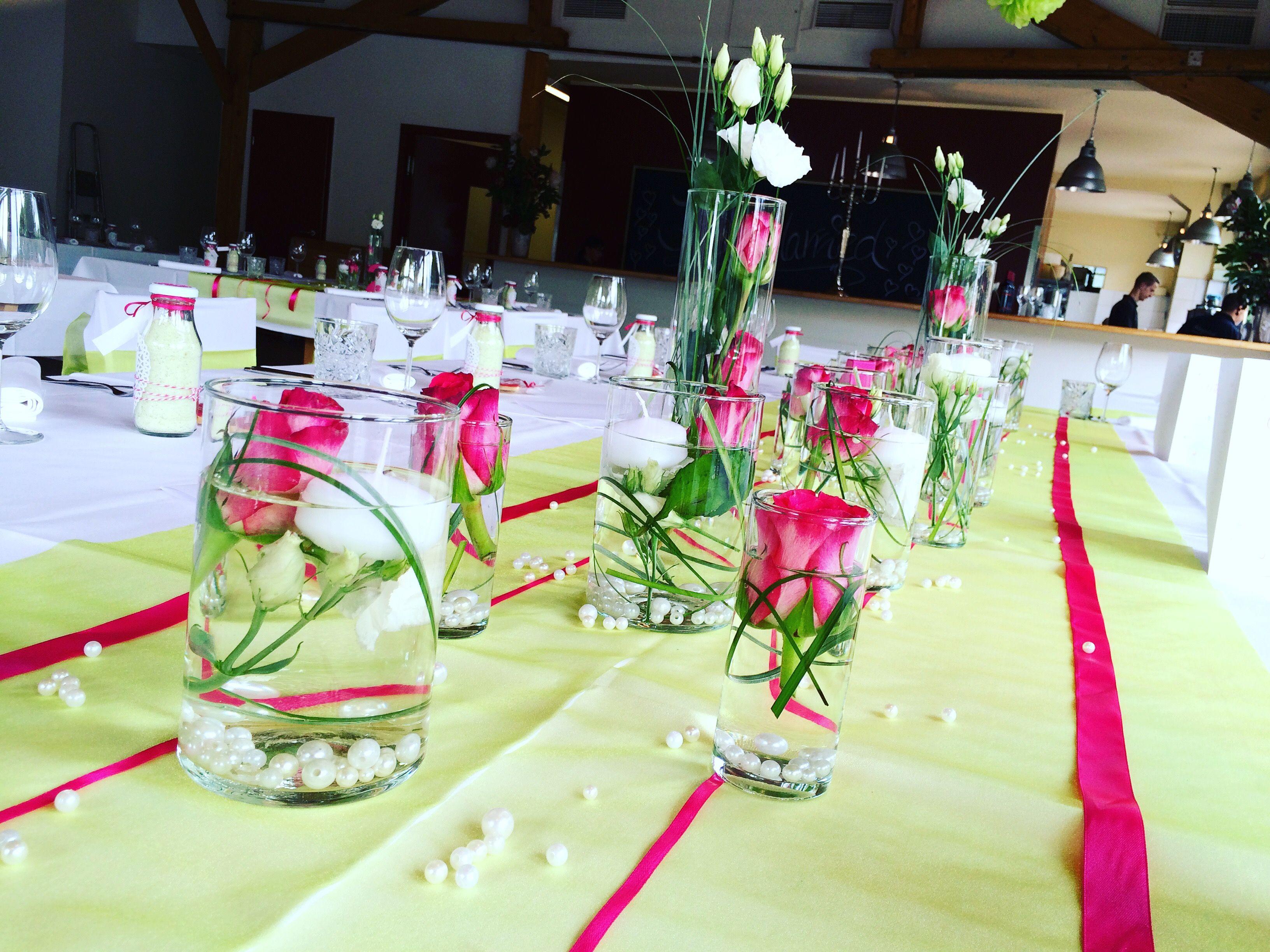 Erfrischend Hochzeitsdeko Wedding Hochzeit Pink Grun Tischdeko