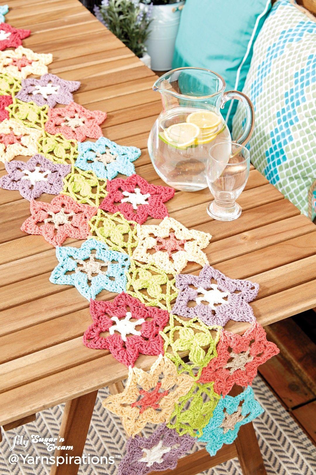 Flower Power Crochet Table Runner   Channeling Aunt Carla ...