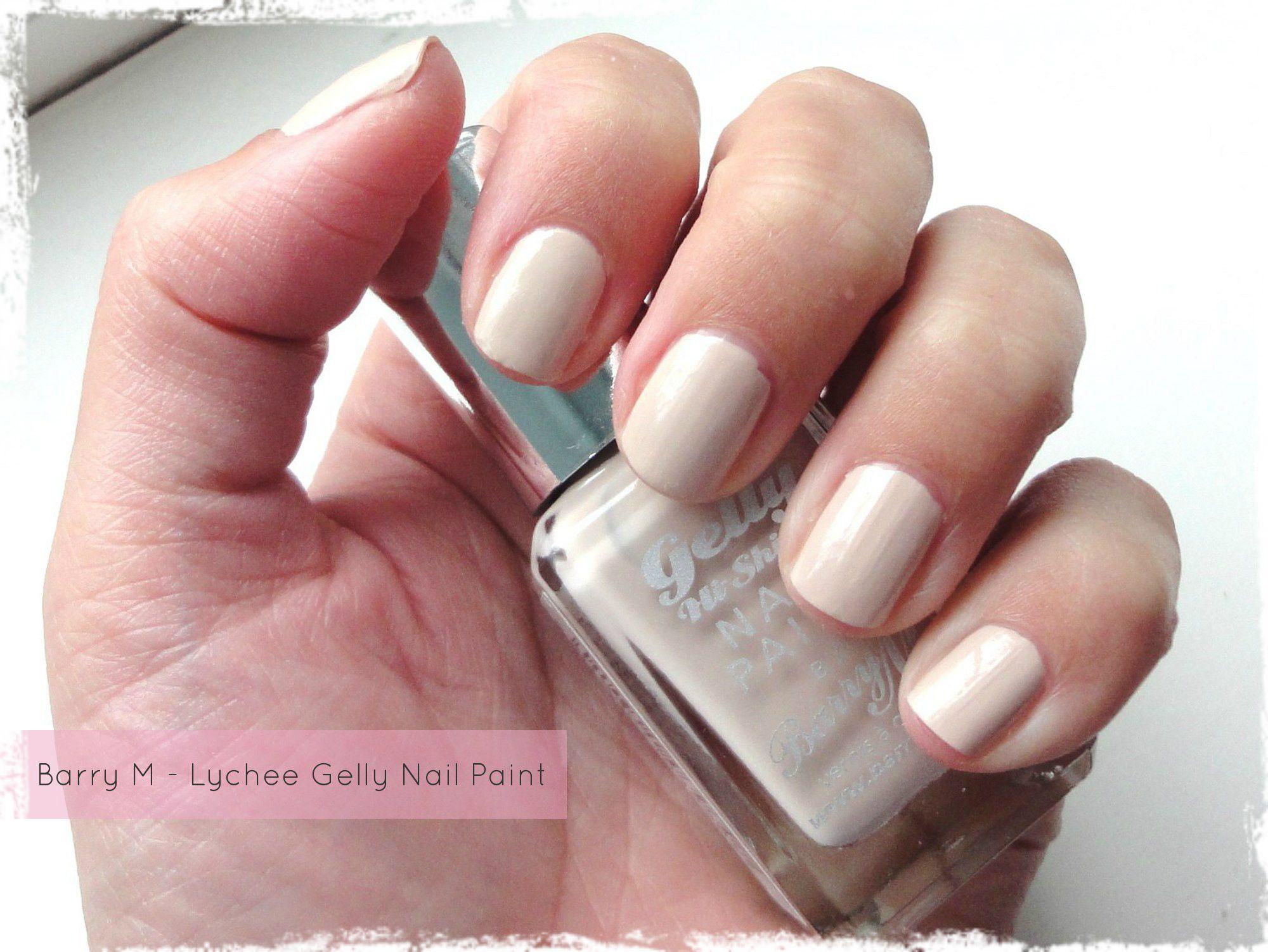 Barry M Gelly Nail Paint - Lychee | Nail Art Hacks | Pinterest | Art ...