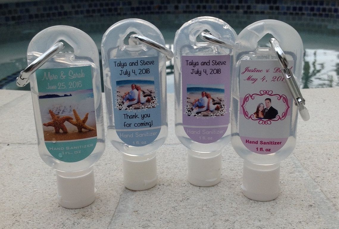New Listing Personalized Wedding Hand Sanitizer Favor With Labels