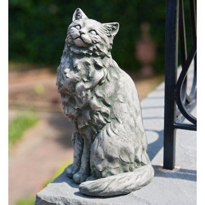 Campania Tanner The Cat Garden Statue In Alpine Stone Stone