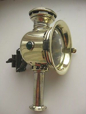 Antique Brass Candle Bicycle Lamp Excellent Objetos