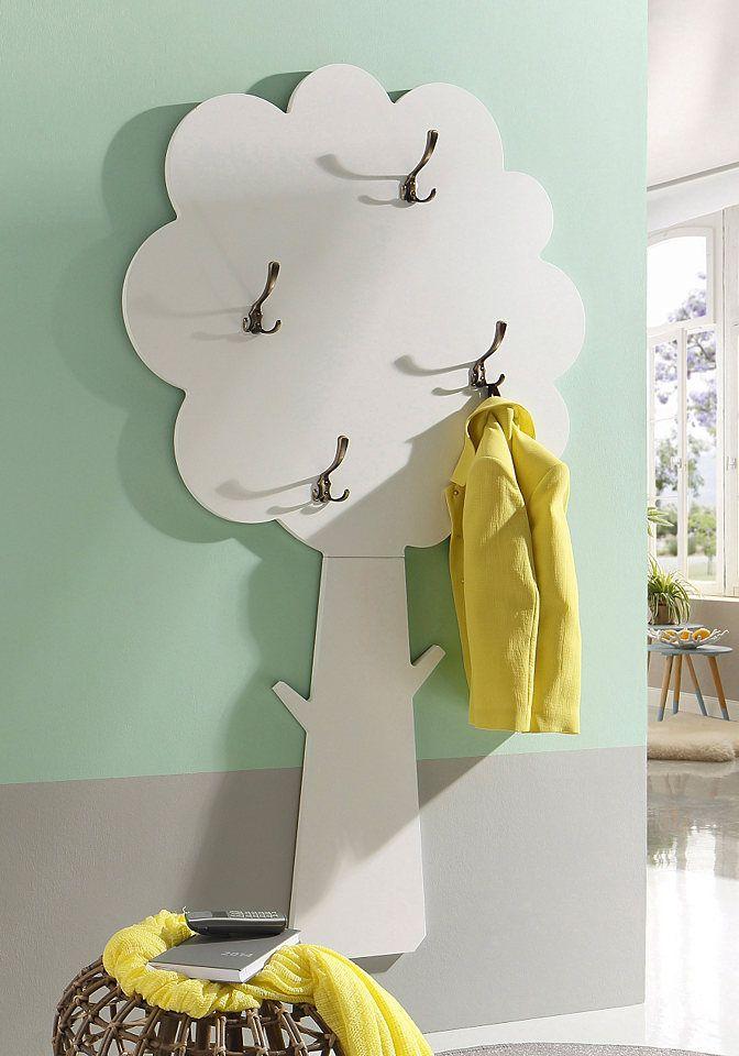 home affaire garderobe home mit 4 haken wohnung. Black Bedroom Furniture Sets. Home Design Ideas